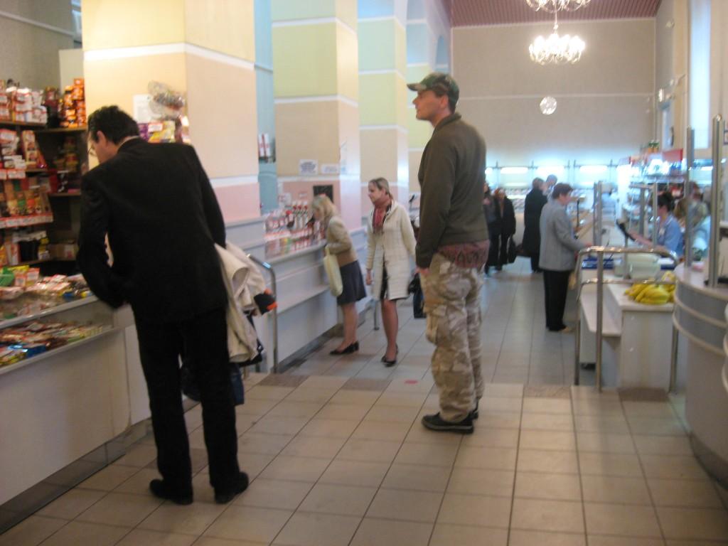 De 'klotewinkel' in Minsk...