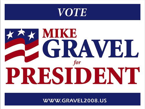 verkiezingscampagne gravel