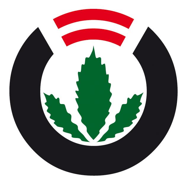 Het logo van het Hanfverband in Oostenrijk