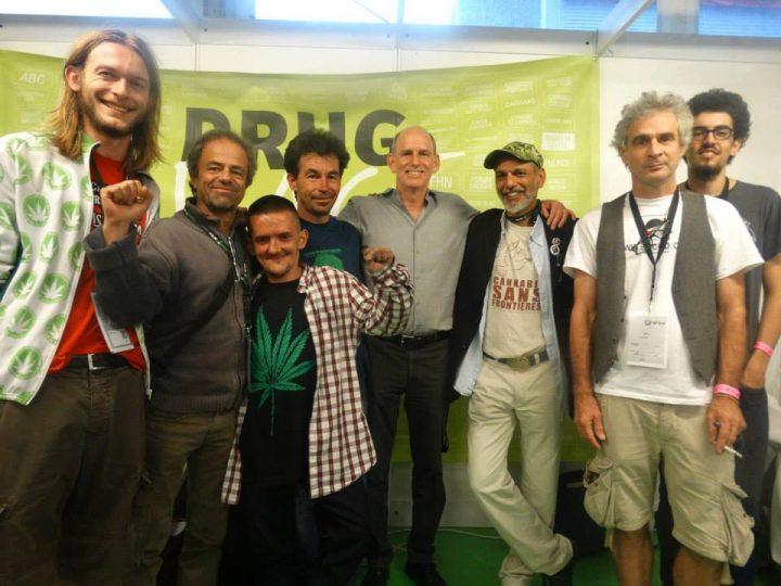Met joep, Ethan Nadelmann van DPA en franse activisten