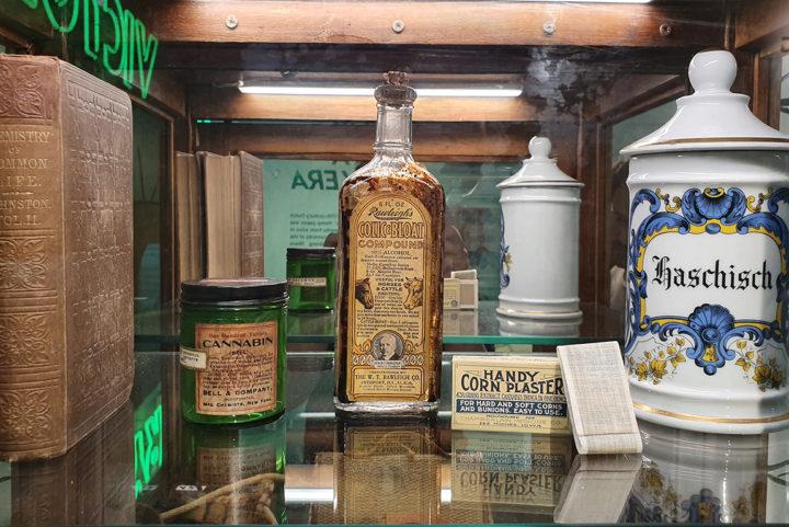 Cannabis kunstschatten ontbreken niet in Cannabis Museum Amsterdam