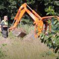 Politie dag bezig om ondergrondse wietkwekerij uit te graven